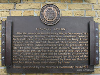 Placa Fraunces Tavern Museum